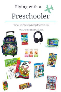 Tips and tricks for flying with a preschooler. A list of activities and ideas for their carry-on bag! Plus a little info about traveling with a child that has SPD (sensory processing disorder) Toddler Travel, Travel With Kids, Family Travel, Family Trips, Travel Essentials, Travel Tips, Travel Hacks, Travel Packing, Travel Bag