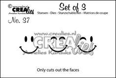 Set of 3 no. 37 Gezichtjes / Faces