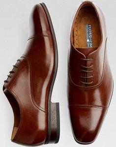 Florsheim Cognac Cap-Toe Oxfords - Mens Dress Shoes, Shoes - Men's Wearhouse  URL : http://amzn.to/2nuvkL8 Discount Code : DNZ5275C