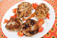 soppburger Vegan Vegetarian, Vegetarian Recipes, Mushroom Burger, Tandoori Chicken, Burgers, Delish, Stuffed Mushrooms, Veggies, Ethnic Recipes