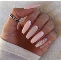 Nude Ballerina/Coffin Nails by MargaritasNailz