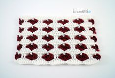 Crochet Heart Stitch Free crochet Pattern and Video Tutorial