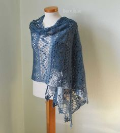 Diamonds and Lace Crochet Shawl