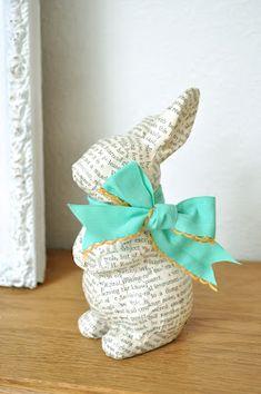 <3 decoupaged bunny