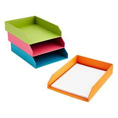 Bigso™ Bright Stockholm Stacking Letter Tray. Love the bright colored Stockholm collection