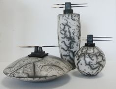 Naked Raku  vessels by Judith Paisley - www.paisleyceramics.com