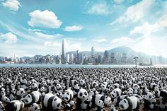 French sculptor Paulo Grangeon has made it elegantly -- and depressingly -- easy to see how endangered pandas really are.