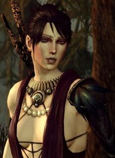 Morrigan is a Witch of the Wilds, one of innumerable sorceresses whose legends originate in the Korcari Wilds. She is called upon to leave her home to become a companion to the Warden. Morrigan can be romanced by a male Warden, and can also teach the Shapeshifter specialization.