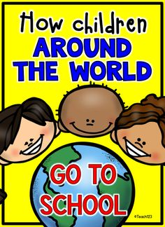 Social Studies: How do children around the world go to school? This is a great idea for a Back to School lesson. It integrates social studies and math. Around The World Theme, Schools Around The World, Kids Around The World, We Are The World, Around The Worlds, 3rd Grade Social Studies, Kindergarten Social Studies, Social Studies Activities, Teaching Social Studies