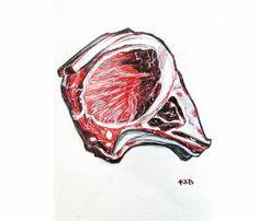 🔔#chop #steak #redcolor #ink #pink #inktober #inktober2018 #promptlist #sketch #sketchbook #artistsoninstagram #instaart #realisticdrawing #fabercastell #fabercastellclassic Chopped Steak, Inktober, Sketches, Abstract, Artwork, Pink, Cards, Instagram, Drawings