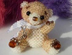 Beaded Bear with a ring PATTERN