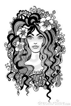 Artistic black and white illustration. by Jensolveig, via Dreamstime