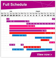 #Olympics  A quick link to the schedule for the 2012 London Olympics.