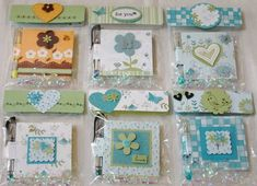 Post-it Noteholders Blues & Greens by rosekathleenr - Cards and Paper Crafts at Splitcoaststampers