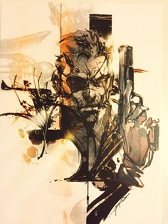 Metal Gear Solid V - The Phantom Pain. One of the three prints that come with the guide book.