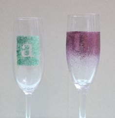 Add a touch of glitter to your glasses and make them stand out in a room.