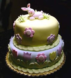 easter or girls birthday cake