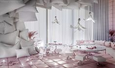 """Sypialnia"" (which in Polish means """"bedroom"") is the first conceptual restaurant project in the ""Pastel Collection"", entirely designed by Karina Wiciak."