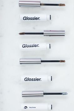 Glossier's Boy Brow is an award-winning brow pomade that will keep your brows looking fierce and in place without stiffness or flakiness. #StyleMePretty #Glossier #WeddingBeauty Perfecting Skin Tint, Stretch Concealer, Milky Jelly Cleanser, Glossier You, Cleanser For Oily Skin, Priming Moisturizer, Day Glow, Brow Pomade, Makeup Set