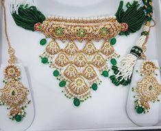 Indian Wedding Jewelry, Indian Jewelry, Bridal Jewelry, Gold Jewelry, Gota Patti Jewellery, Rajput Jewellery, Rajputi Dress, Gold Earrings Designs, Designer Earrings