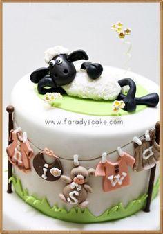 shaun the sheep cake - Hľadať Googlom Cow Cakes, Fondant Cakes, Aid Adha, Beautiful Cakes, Amazing Cakes, Shaun The Sheep Cake, Timmy Time, Rabbit Cake, Frosting Tips