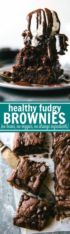 Reader said, OMG! These are amazing! I made them last night and I loveee them. I keep them in the fridge and they're even better the next day…with coffee. These double-chocolate, fudgy brownies are (Paleo Pumpkin Brownies) Healthy Baking, Healthy Desserts, Just Desserts, Delicious Desserts, Dessert Recipes, Healthy Meals, Fudge Brownies, Healthy Brownies, Healthy Fudge