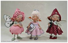 There's something about these funny - faced faeries that I think are so adorable! enaidsworld: Fairy puppets