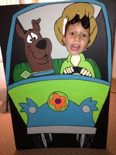 Cool art work I did for my sons Scooby party! Had an old black projects trifold so just used that with acrylic paints. Turned out great! He loved it and we had fun with it at the party!