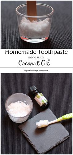 HOMEMADE TOOTHPASTE MADE WITH COCONUT OIL