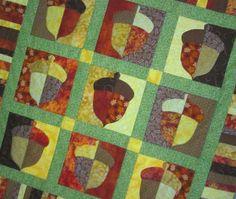 PDF Pattern BURIED TREASURE Applique Acorn by carolinasquirrell
