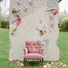 Un espace « Photobooth » champêtre