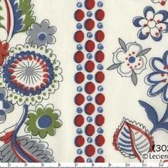 Lecien House Designer - Fabulous Blooming - Wallpaper Stripe in Red