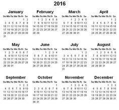 2016 Calendar Print - This Calendar Portal provides you Free Printable Calendar, Template, Pdf, Word, Excel, Image. Here you can search all the monthly calendars: