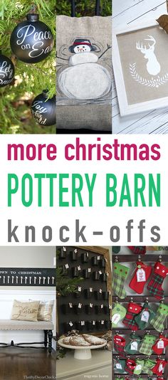 Hi there my friends, I know you know it is now November so it is time to really go heavy on all of the Holiday Posts and what a great one we have for you to day…It's all about More Christmas Pottery Barn Knock-Offs for you!  You just seem not to be able to get …