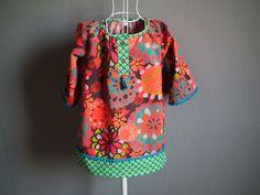 Robe blouse tunique courte en velours cotelé manches 3/4 : Mode filles par…