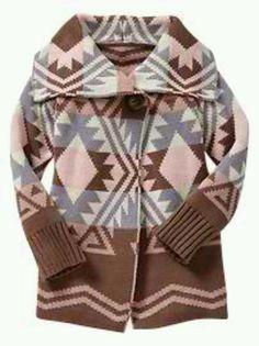 Baby Gap. Aztec knit sweater.