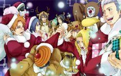 Akatsuki say merry christmas Naruto Fan Art, Naruto Ff, Naruto Funny, Pain Naruto, Akatsuki Wallpaper, Naruto Wallpaper, Naruto Family, Boruto Naruto Next Generations, Hot Anime Boy