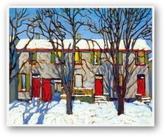 The Red Doors II, Lawren Harris
