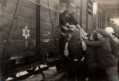 """Deportation of the Jews of Macedonia, March 1943. All the Jews imprisoned at """"Monopol"""" were deported to the Treblinka death camp, where they were murdered. They were taken in three transports, although the original plan was for five."""
