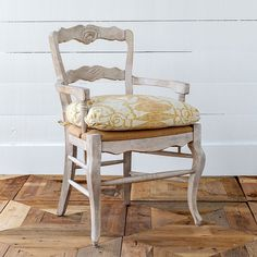 French Country Cushioned Arm Chair