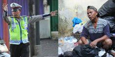 Salut! Polisi Ini Rela Jadi Pemulung Sampah Demi Mencari Tambahan Nafkah Halal