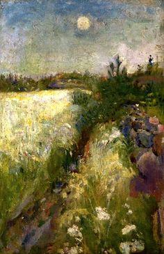 ☼ Painterly Landscape Escape ☼ landscape painting by Edward Munch, Veierland near Tønsberg, 1887
