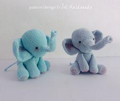 Amigurumi Crochet Pattern PDF elephant amigurumi Toy by bySol
