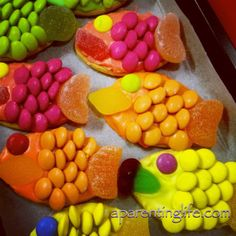 decorated fish biscuits. Easy. Yum. Fun.