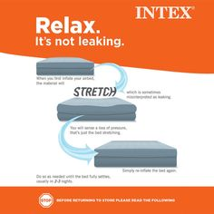 New Inflatable Airbed Mattress Compact Flocked Camping Compact Storage Plush  #Intex