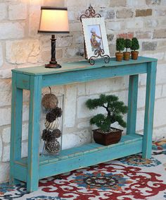 This Turquoise 46'' Rustic Entryway Table is perfect! #zulilyfinds
