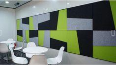Akustik Wandgestaltung - individuell ; Sound Absorber für Büros.