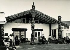 Evening at Te Puea Marae, Mangere by Gil Hanly Polynesian People, Maori Art, Kiwiana, Hotel Lobby, New Zealand, Gazebo, Outdoor Structures, Explore, Architecture