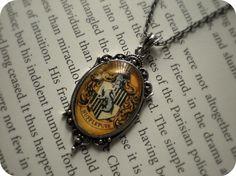 Little Misses Hufflepuff Necklace by AzureeAlice on Etsy, $20.00