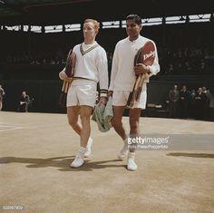 Rod Laver (Australia) & Ramanathan Krishnan (India) - 1961 Wimbledon Men's Singles Semifinal.